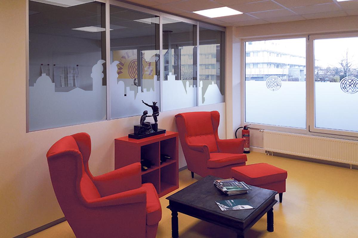 Glasdekor - Sichtschutz – Digitaldruck-Glasflaechen - Sonnenschutz